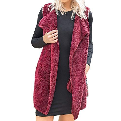 Winered Veste sans Manteau Veste Vintage Manteau femmes Winter Loose Femme Classic pour Warm manches Fashion Casual Elegant Print Patchwork 11rwadq