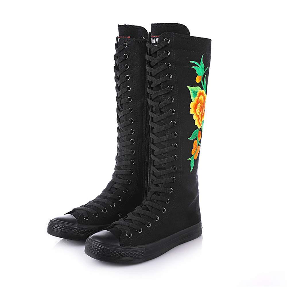 Men's/Women's LaBiTi Women Fashion Canvas Canvas Canvas Dance Boots Knee High Bicycling Boots Girls Fancy School Shoes bargain Fine art Popular recommendation AW87660 59aec4