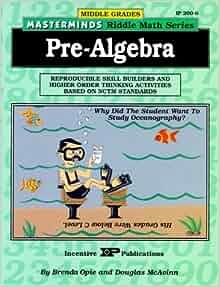 Amazon.com: Masterminds Pre Algebra: Reproducible Skill