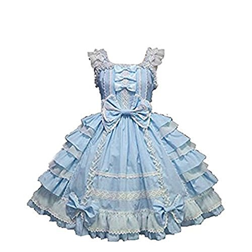 Nuoqi Girls Sweet Lolita Dress Princess Lace Court Skirts Cosplay Costumes CC220M-XL (Del Mar Lace)