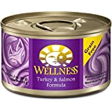Wellness Complete Health Grain Free Turkey & Salmon Natural Wet Canned Cat Food, 3-Ounce Can (Pack of 24)