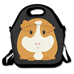 Guinea Pig Cute Cartoon Lunch Box Bag For Kids And Adult,lunch Tote Lunch Holder With Adjustable Strap For Men Women Boys Girls,This Design For Portable, Oblique Cross,double Shoulder