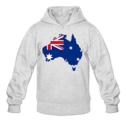 [Australia Flag Map Male Men's Sports Fashion Blank Hooded Sweatshirt Ash] (Halloween In Australia)