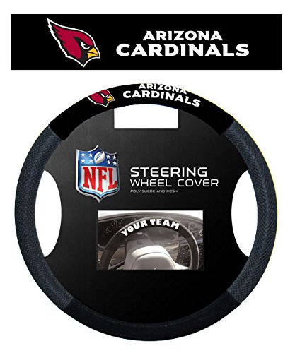 Arizona Cardinals Car (Fremont Die 98522 NFL Arizona Cardinals Poly-Suede Steering Wheel Cover)