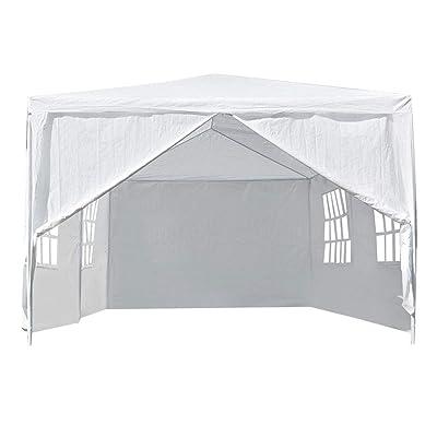 Zouminy Wedding Tent, Outdoor Gazebo, 3 x 6M Outdoor Gazebo Canopy Party Tent Patio Heavy Duty Wedding Tent White : Garden & Outdoor