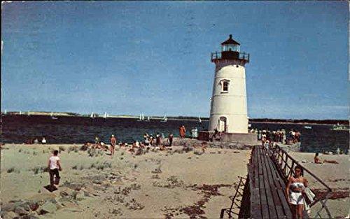 Edgartown Harbor - Edgartown Harbor Lighthouse Edgartown, Massachusetts Original Vintage Postcard
