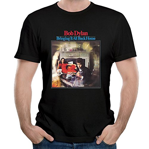 Uolongqul Mens Bob Dylan Bringing It All Back Home Tshirts Black 4XL