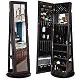 SONGMICS 360° Rotatable Jewelry Organizer Cabinet Armoire