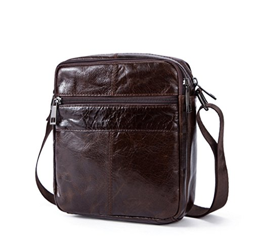 1 2 Bag Shoulder Backpack 5x7x20cm Man Bag Leather Resistant Bags Genuine Handbags And Shoulder Leather Sucastle Small Chest 17 tPqxTTU