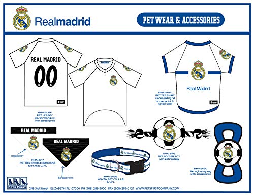 best cheap aa1e4 24c80 [해외구매대행 $12.99] Real Madrid Soccer Pet Jerseys Shirts Collars Bandanas &  Football Toys for Dogs & Cats. - MLS Sports Licensed Dog Apparels, Cute Pet  ...