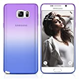 Galaxy Note 5 Case, MagicMobile Ultra Slim [Translucent] Colorful Clear Case for Samsung Galaxy Note 5 [Anti-Scratch] Flexible TPU Layer Thin Shell [Shock-Resistant] Back Skin Cover (Purple - Blue)