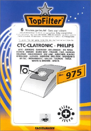 Amazon.com: Top Filter Vacuum Cleaner Bags Set of 6 no. 975 ...