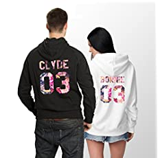 Bonnie and Clyde 03 Floral Couples Hoodies