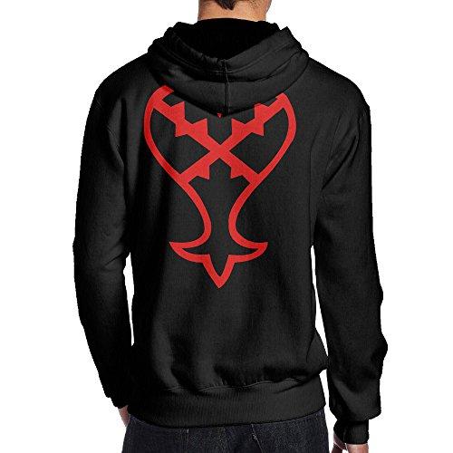 [JKUI9 Men's Kingdom Hearts Heartless Sweater On The Back Size S Black] (Courtney Love Costume)