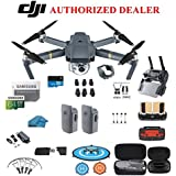 DJI Mavic Pro Drone - Quadcopter - with 2 Batteries - 4K Professional Camera Gimbal - Bundle Kit - with Must Have Accessories