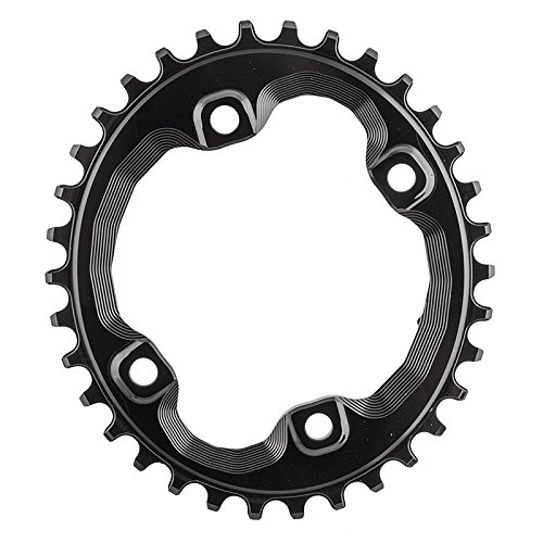 ABSOLUTE BLACK Shimano Oval Traction Chainring Black/96 BCD (M8000 XT), 34t