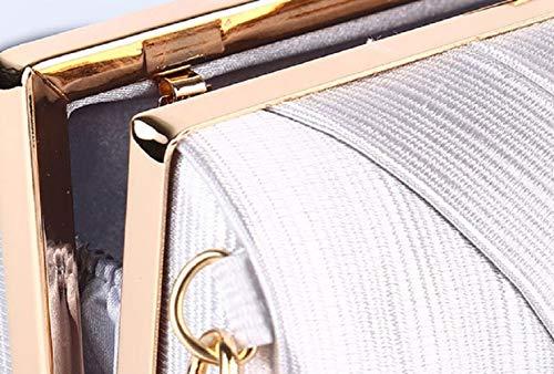 Matrimoni Da Banchetti Wjp Catena Sera Borsa albicocca Lladies Tracolla Per Seta Di Diagonale Rosa A centimetro Sera Pochette Hqqwp5t