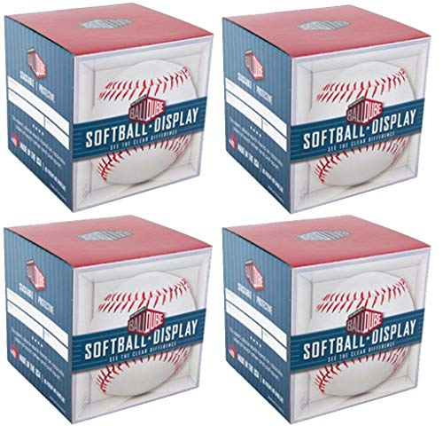 BallQube Softball Display Case Box (4 Pack)