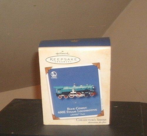 1 X 2002 Hallmark Ornament Lionel Blue Comet 400E Steam Locomotive # 7 in Series by Hallmark Cards, Inc.