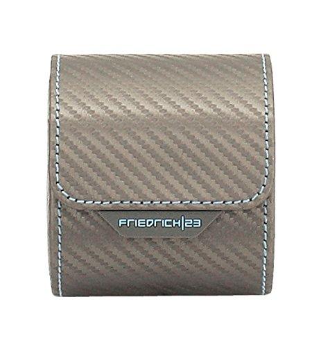Friedrich|23 Unisex Uhrenrolle für 1 Uhr Feinsynthetik in Carbon-Optik Grau 32057-9