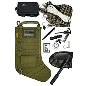 TERRATAC Tactical Christmas Stocking Gift Kit PLUS Survival Gear Bundles