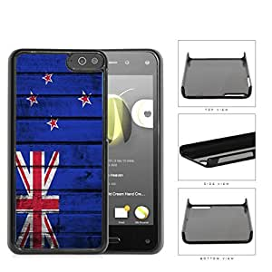 New Zealand Flag With Grunge Wood Surface Hard Plastic Snap On Cell Phone Case Amazon Fire