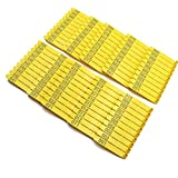 M.Z.A Numbered Ear Tags for Goats 001-100 One Piece Ear Tag Yellow Plastic Livestock Ear Tags for Sheep Pigs Hogs