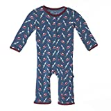 Kickee Pants Print Coveralls, Twilight Space Travel, 0-3 Months