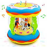 Toddler and Baby Musical Activity Drum Toys for 6 Months Up, Kids Toys for 1-5 Year Old Boys and Girls
