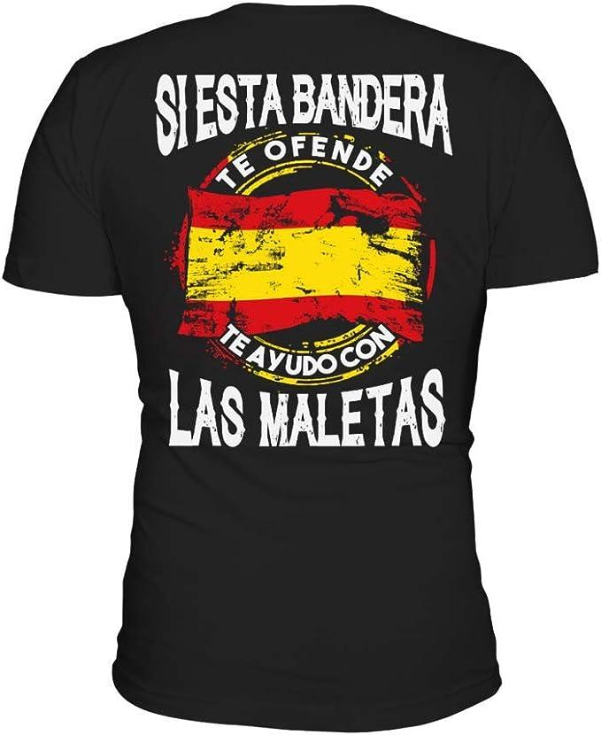 TEEZILY Camiseta Hombre Si Esta Bandera te ofende te ayudo con Las ...