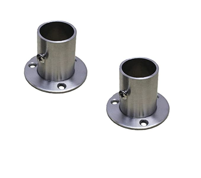 NELXULAS Stainless Steel Closet Rod Flange Holder for Pipe (AD2)
