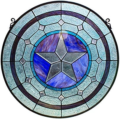 RADIANCE goods Tiffany-Style Round Window Panel 24 Height