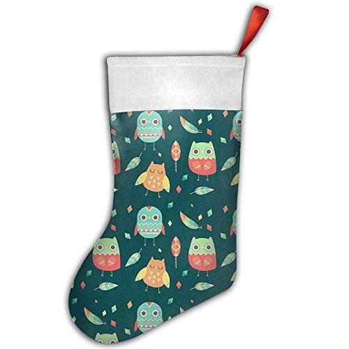 Tigers Candy Cane Ornament - Christmas Socks Stylish Santa Stocking Xmas Ornament Confused Owl