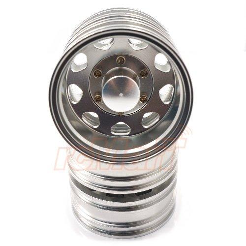 Xtra Speed Aluminum Rear Wheel 9 Spoke For Tamiya 1/14 Tractor Truck 2pcs #XS-59604