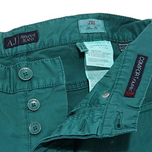 Jeans Cotton Verde uomo Trouser Tasche 0927X Men Armani Green 5 Pantalone 8wXvnxF