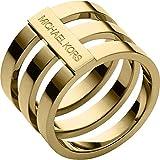 Michael Kors Women's Tri Stack Open Pave Bar Gold 6