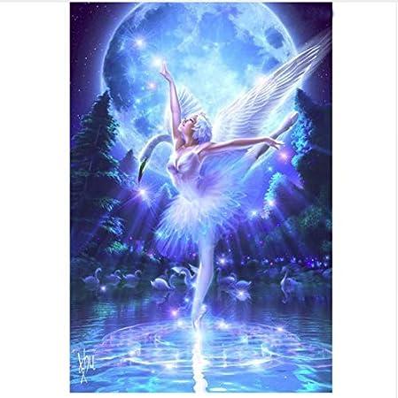 5D DIY Diamante Pintura Punto De Cruz Kit Diamante Bordado Swan Lake Dance Niña Imagen Mosaico Patrón Artes Y Oficios-40x50cm