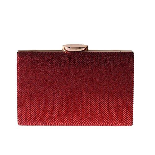 synthétique Quadretti avec bandoulière pochette Bridge cuir Sac Shopping couleur main argent Rouge à en Blue nxcz1vqg