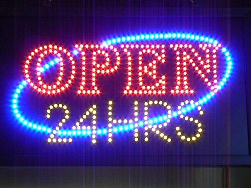 Amazon.com: LED Señal abierto las 24 horas, 12 x 20inch ...