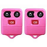 2 KeylessOption Pink Replacement 3 Button Keyless Entry Remote Control Key Fob Clicker