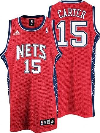 competitive price b25d2 504df Amazon.com : Vince Carter Red adidas NBA Swingman New Jersey ...