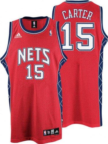 6576271914a Amazon.com   Vince Carter Red adidas NBA Swingman New Jersey Nets ...