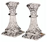 Waterford Crystal Lismore 6-Inch Candlestick Holders, Set of 2