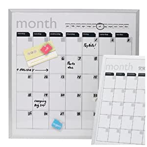Wall Calender Magnetic and Dry Erase, White