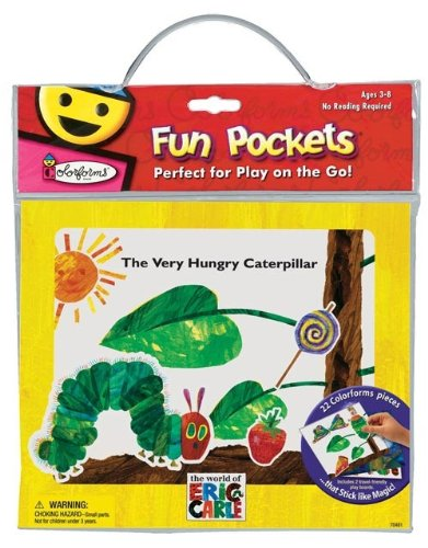 Colorforms Fun Pockets Eric Carle Very Hungry Caterpillar Travel Kit by University Games