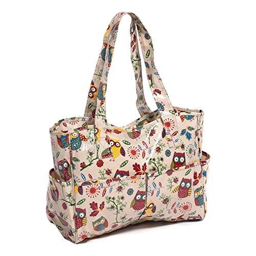 Hobby Gift Owl Design PVC Craft Bag on Natural (12.5 x 39 x 35cm) by Hobby Gift