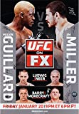 "UFC on FX 1 Miller vs. Guillard Autographed 27"" x 39"" 20-Signature Event Poster - Fanatics Authentic Certified review"