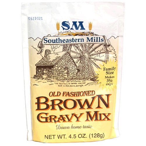 Southeastern Mills Old Fashion Gravy Mix, Brown, 4.5-Ounce Packages (Pack of 24)