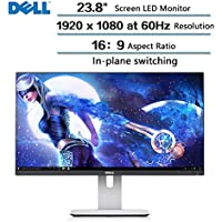 """2018 High Performance Flagship Dell UltraSharp 23.8"""" Inch Full HD (1920 x 1080) Widescreen LED-backlit LCD Monitor with Stand"""