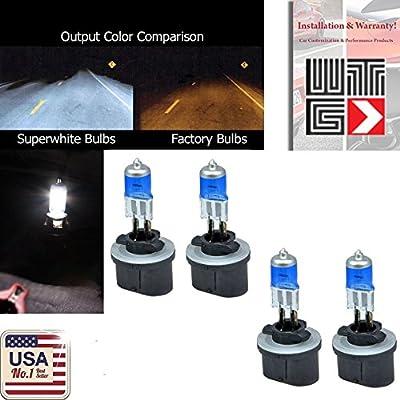 VITO Combo 2 Pair 893 37.5w (Fog Light) 880 884 885 890 892 899 Super White 5000K Xenon Halogen OEM Headlight Light Bulbs (Contains 4 Bulbs)